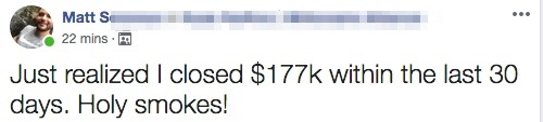 Just realized I closed $177k within the last 30 days. Holy smokes!