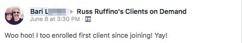 Woo hoo! I too enrolled first client since joining! Yay!