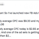 Holy Sign-Ups Batman! So I've launched new FB Ads for my webinar funnel... With the old ads... My average CPC was $9.33 and my cost per registration was $33.06 With the new ads... My average CPC today is $2.65 and my cost per registration is $3.98. And one of the ad sets is getting me clicks and registrations at less than $2...