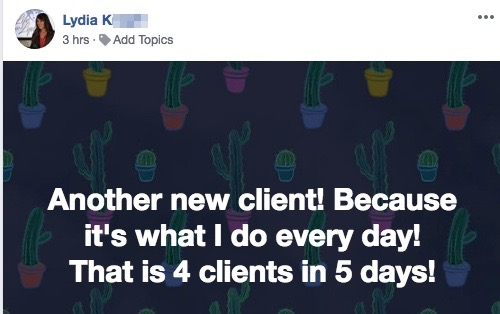 Another new client! Because it's what I do every day! That is 4 clients in 5 days!