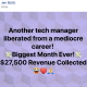 Another tech manager liberated from a mediocre career! 💸Biggest Month Ever!💸 $27,500 Revenue Collected