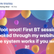 Woot woot! First BT session booked through my webinar! The system works if you work it