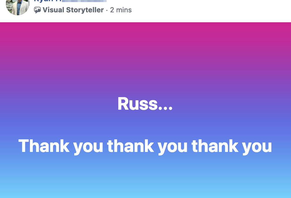 Russ... Thank you thank you thank you