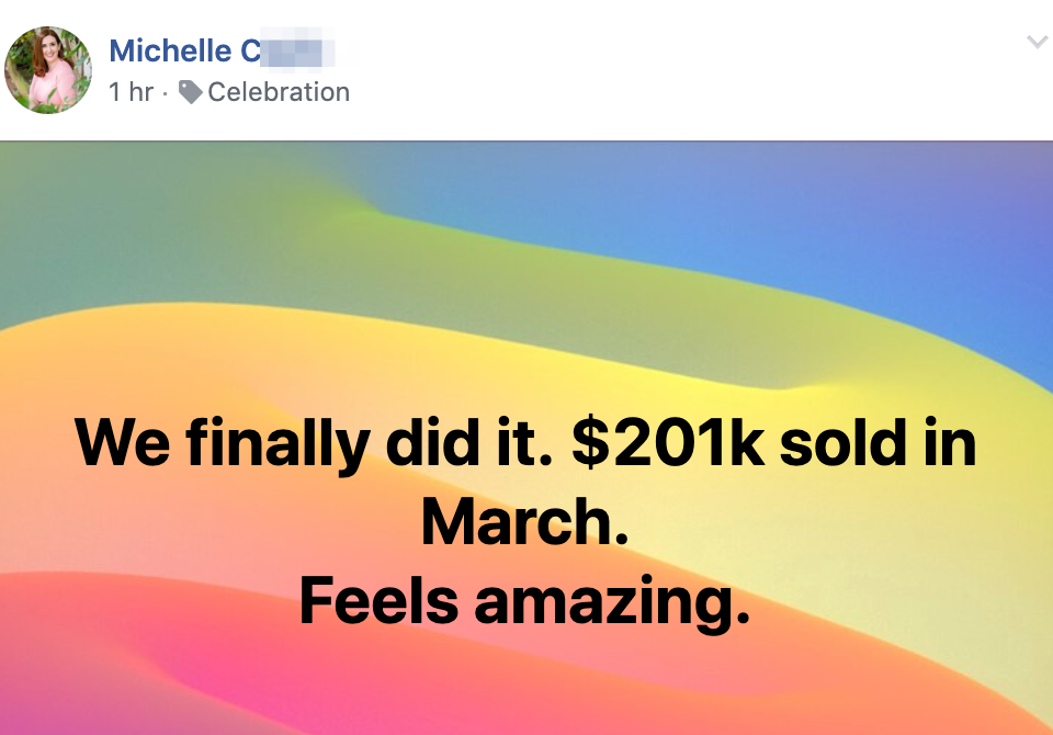 We finally did it. $201k sold in March. Feels amazing.