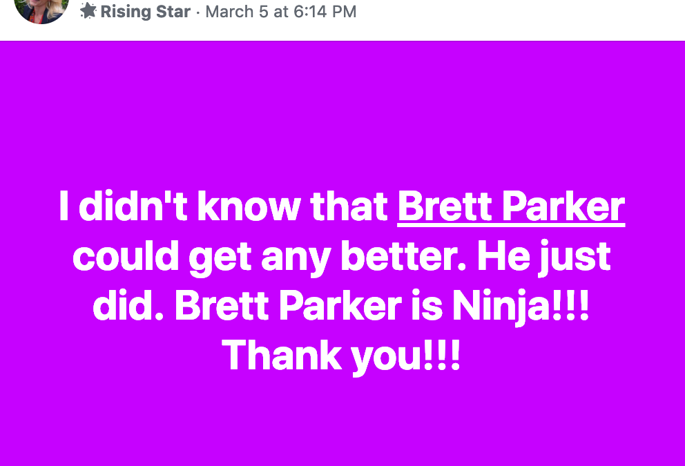 I didn't know that Brett Parker could get any better. He just did. Brett Parker is Ninja!!! Thank you!!!