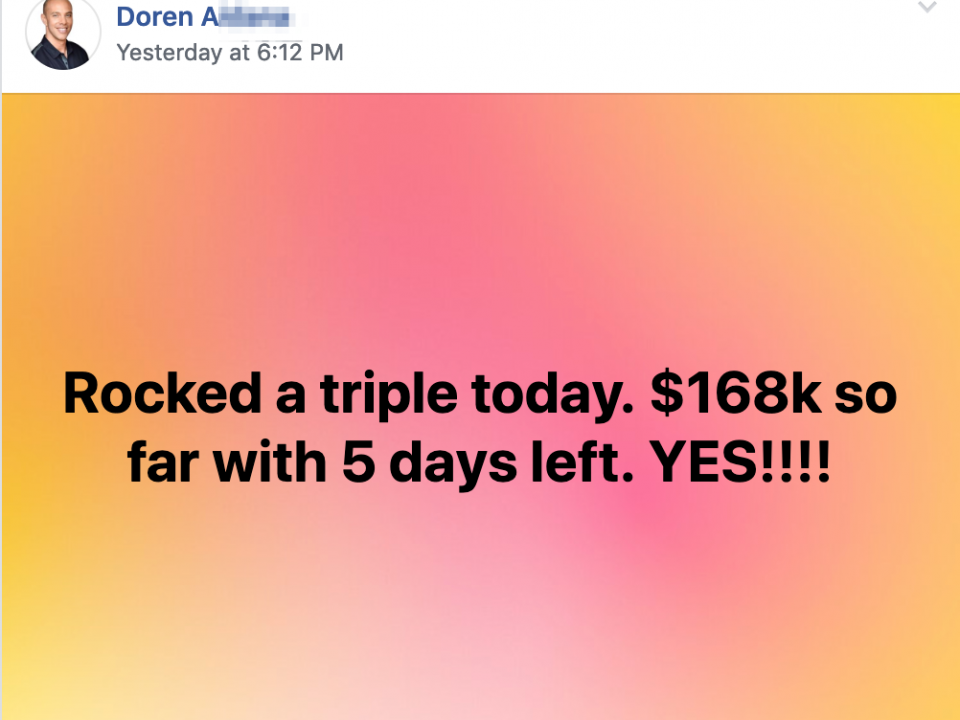 Rocked a triple today. $168k so far with 5 days left. YES!!!!