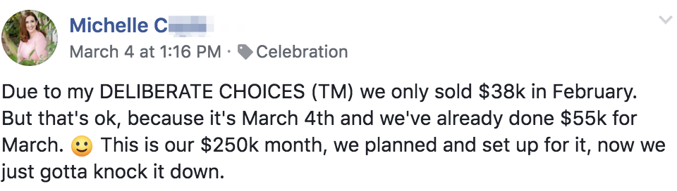 Due to my DELIBERATE CHOICES (TM) we only sold $38k in February. But that's ok, because it's March 4th and we've already done $55k for March. :) This is our $250k month, we planned and set up for it, now we just gotta knock it down.