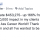 Update! Sales Year to Date $453,275- up 166% from last year! And have made a $1,000,000 impact in my clients lives this year!!! We are on fire over here in Kick Ass Career World!! Thank you to all my MA peeps for helping me be all I am and all I've wanted to be forever!! Gratitude overflowing!! See you in SC!!