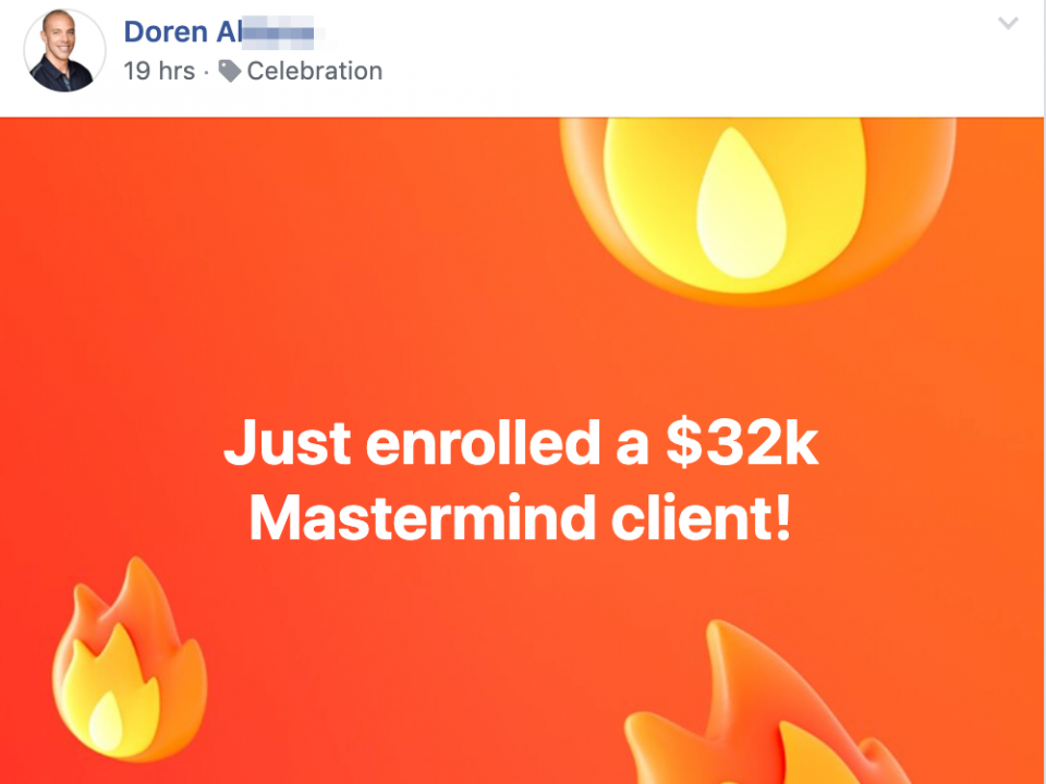Just enrolled a $32k Mastermind client!