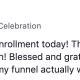 Michelle Coyle June 13 at 2:41 PM · tag Celebration Another $36k mastermind enrollment today! That puts me at $152k for the month so far. On the 13th! Blessed and grateful. Can't wait to see what happens once we get my funnel actually working again!